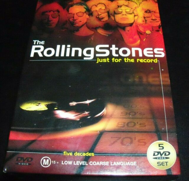 The Rolling Stones Just For The Record (Aust PAL All Region) 5 DVD – Like New (S