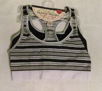 Womens Bobbie Brooks 2 Pack Sports Bra Size S/m 30-32 Black/gray
