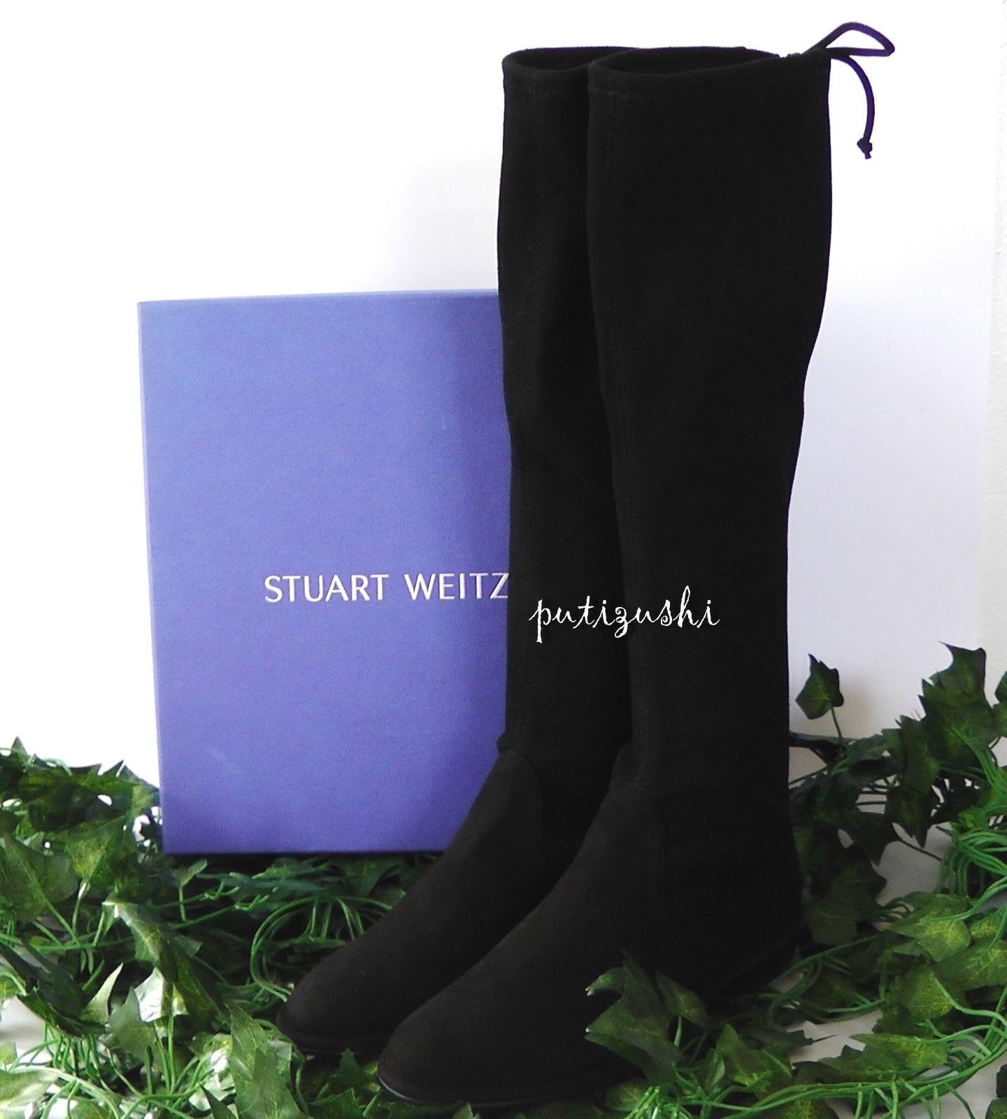 servicio de primera clase Nuevo Nuevo Nuevo En Caja Stuart Weitzman kneezie Gamuza bota, Negro, 6 M EE. UU.  Con 100% de calidad y servicio de% 100.