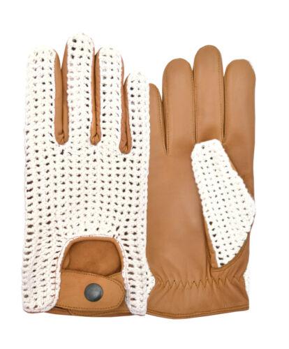 Luxury Skin Tight Finger Leather Fashion Driving Gloves Crochet Back Dress New