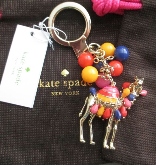 NWT Kate Spade Spice Things Up Jeweled Camel Key Fob Chain Keychain w Dust  Bag 46392047f