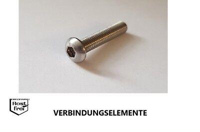 10 Linsenschrauben ISO 7380 Edelstahl A2 M 10x50