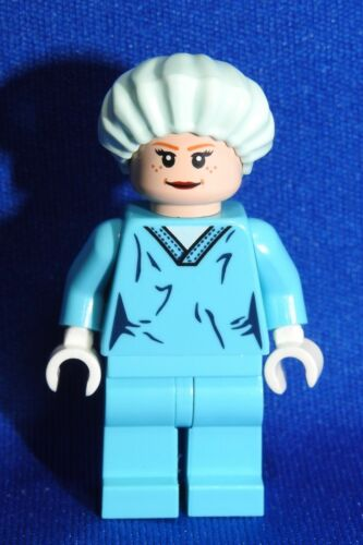 Lego Surgeon MInifigure Custom Configured LIght Flesh Female Doctor in Scrubs