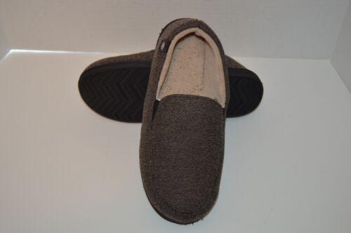 Men/'s ISOTONER Memory Foam Slippers Bedroom Shoes Black Brown Grey M L XL XXL
