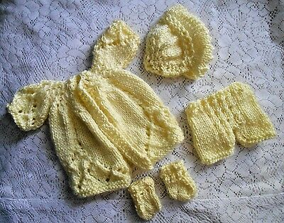 "Doll Clothes Yellow Matinee Set Fits 12"" Corolle, Am.Charac.11"" 12"" Tiny Tears"