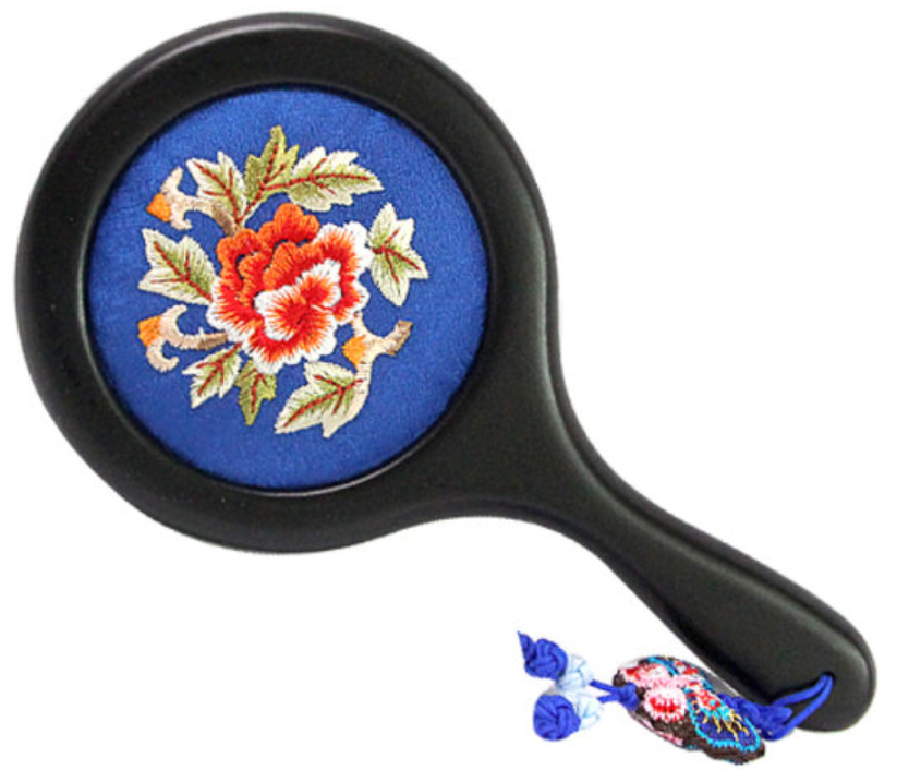 Princess embroidery mirror (neck) medium-blue
