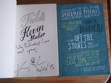 Kevin Maher - The Fields **Signed,Lined & Dated Uncorrected Proof** + Promo Card