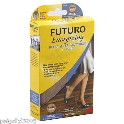 Futuro Energizing Ultra Sheer French Cut Pantyhose Large