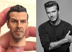 Custom 1//6 scale David Beckham Head Sculpt for 12/'/' Male Figure Body