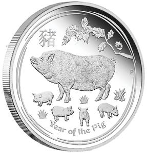 2018 Australia PROOF Lunar Year of the Dog 1oz SIlver $1 Coin w// COA
