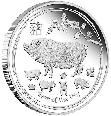 2020 Australia Lunar Year of the MOUSE GILDED 1oz SIlver $1 Coin w// OGP//BOX Gilt