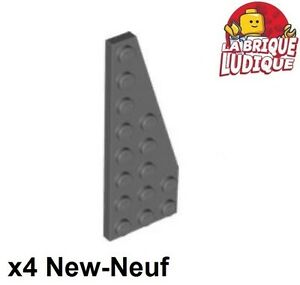 Lego 4x Aile Wedge plate 3x6 Cut Corners gris//light bluish gray 2419 NEUF