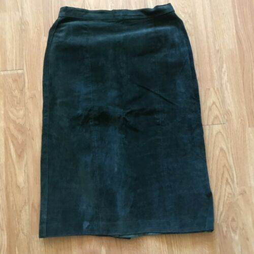 Bagatelle Women's Sz 5 Green Sueded Leather  Skirt