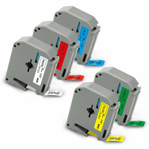 5PK Brother M-K221 to M-K721 Kompatibel Band für Brother MK P-Touch 55 70 85 M95