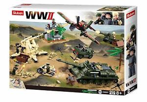 Sluban-Kids-Army-Building-Blocks-WWII-Series-Battle-Of-Kursk-Building-Toy-Army