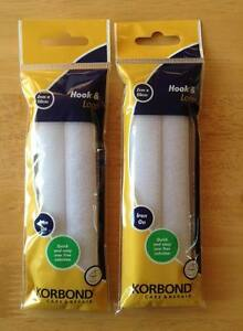Korbond Hook And Loop Press White Tape 2cm X 50cm Easy Sew On Button Zips Repair