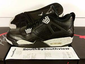 f6bd9e5af90 Nike Air Jordan 4 Oreo With Receipt IV Retro Black Tech Grey Gray ...