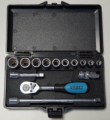 HAZET 851 Knarrenkasten Steckschlüssel-Set 6,3mm 1/4'' 14-teilig im Koffer