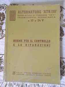 MANUALE-FIAT-ANNO-1962-ATR-110-NORME-PER-IL-CONTROLLO-E-RIPARAZIONI