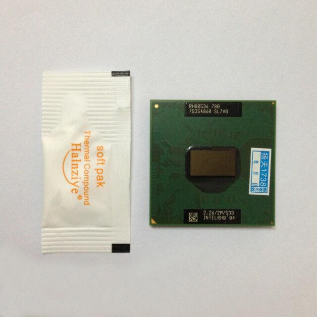 Good working Intel Pentium M 780 533 MHz 2.26 GHz CPU Processor SL7VB