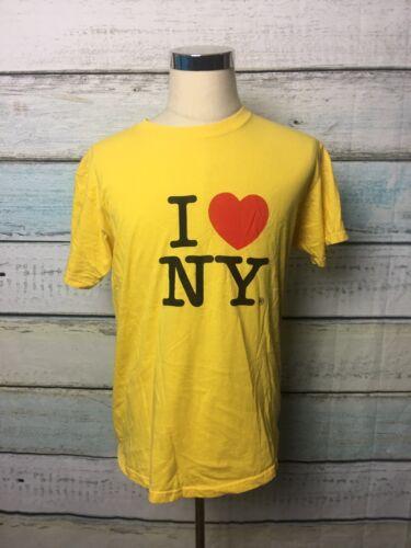 I Love NY T shirt Size Large Yellow