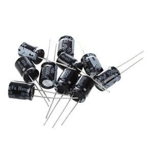 10-x-1000uF-16V-105C-Condensador-electrolitico-radial-10-x-13mm-J6B7