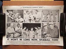 1950 ICN Poster 12x19 Jackie Robinson Ted Williams Stan Musial Joe DiMaggio