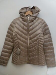 NWT Calvin Klein down puffer packable featherweight warm coat jacket grey S