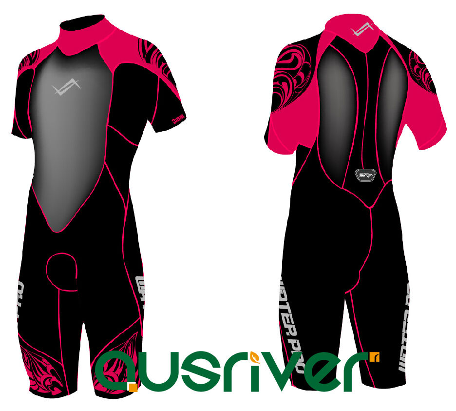 Water Pro rot Unisex Short Wetsuit Fire Snorkeling Terry Cloth 3.5mm Diving