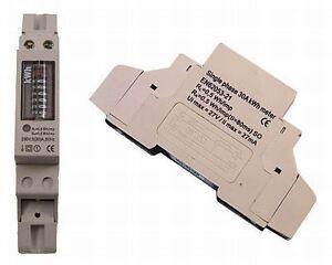 Wechselstromzaehler-Stromzaehler-Wattmeter-6-1-Digit-fuer-Hutschine-230V-30A-Strom