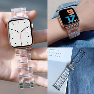Transparent Resin Watch Band Strap For Apple Watch Series 5 4 3 2 38 42 40 44mm Ebay
