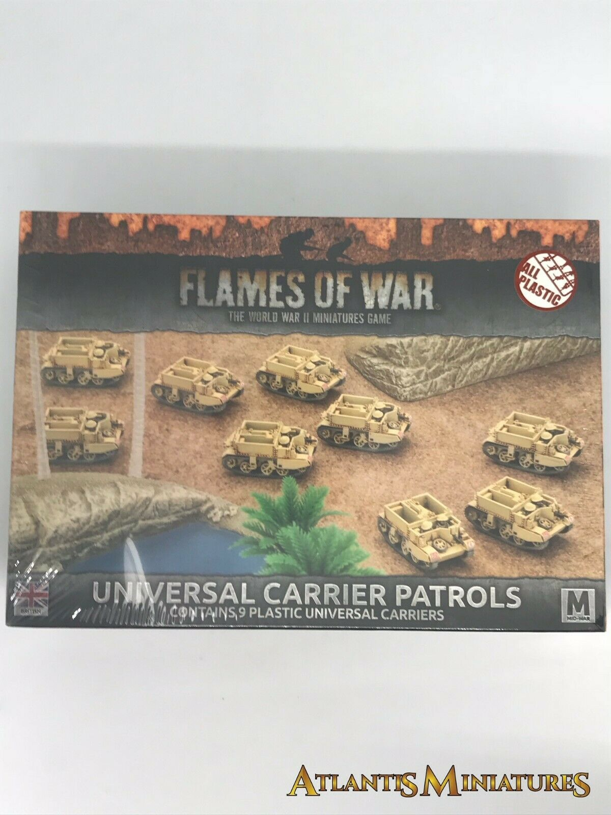 British Universal Carrier Patrols Boxed - Flames of War AA70