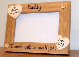 Personalised Ultrasound Baby Scan Photo Frame Parents Daddy