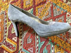 Gray Platform Suede Pumps Shoes Very