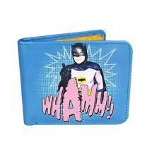 Bi Folding Faux leather Wallet - Batman 1966, Blue Logo wallet