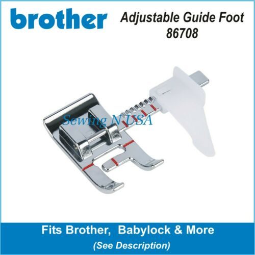 Brother Adjustable Guide Sewing Machine Presser Foot 86708B w// Free Shipping!
