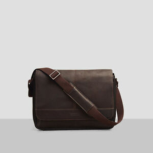 e4671af90 Image is loading KENNETH-COLE-REACTION-RISKY-BUSINESS-LEATHER-MESSENGER-BAG-