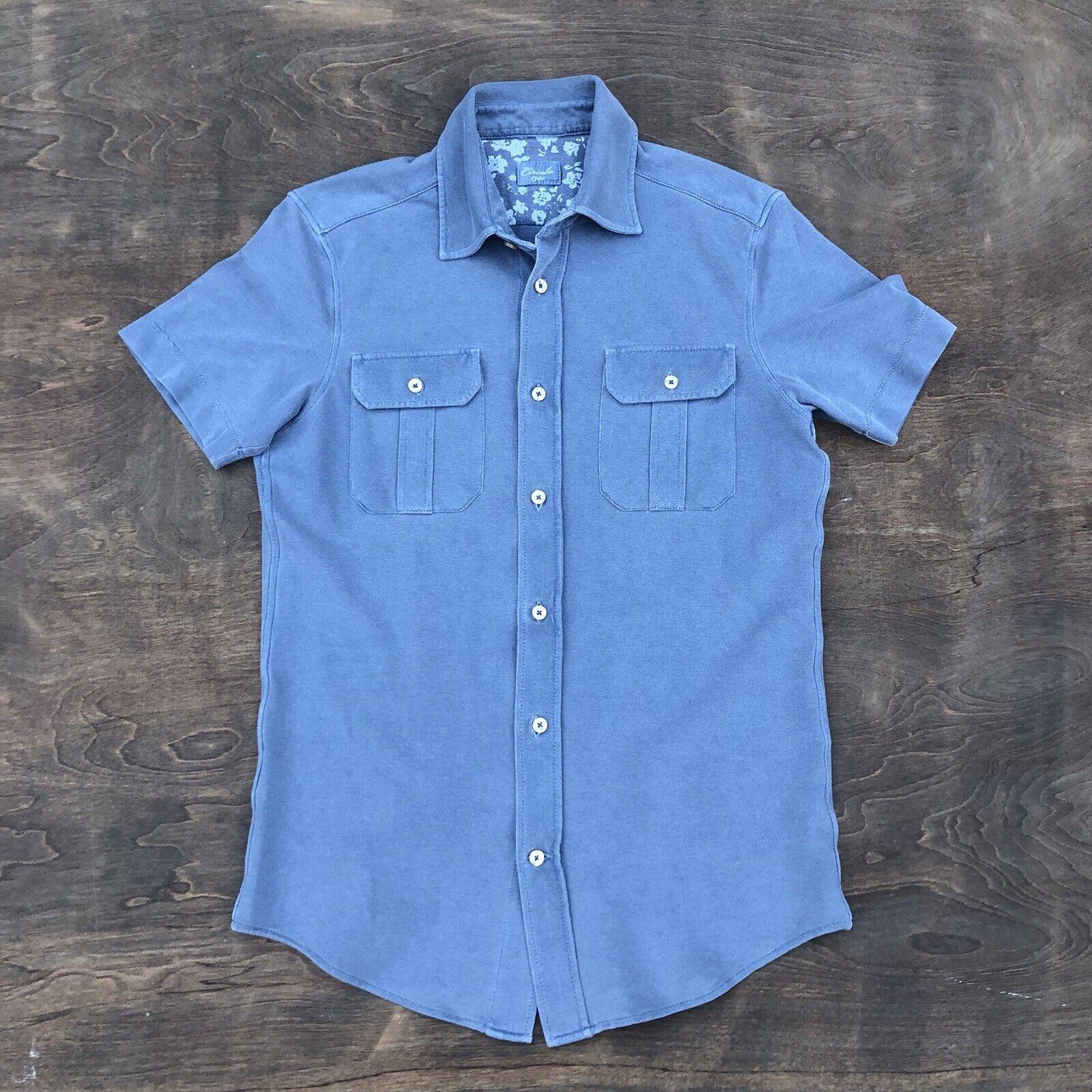 Circolo 1901 Botones Camisa Polo De Hombre  Azul Medio Elástico Usado En Excelente Condición  venta con descuento