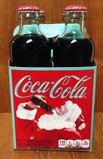 125th Year Anniversary Coca-Cola Special Edition Vintage Bottle Santa 4 Pack