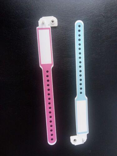 REBORN//BABY Hospital Bracelet par Secrist Choix Couleur 1 Par Vente
