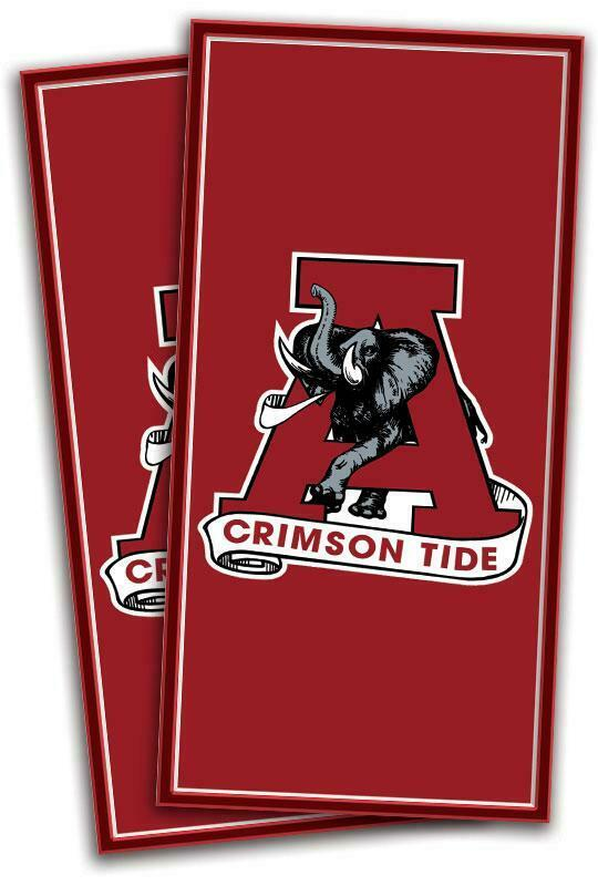 Alabama Crimson  Tide Cornhole Bag Toss Wrap Set  more order