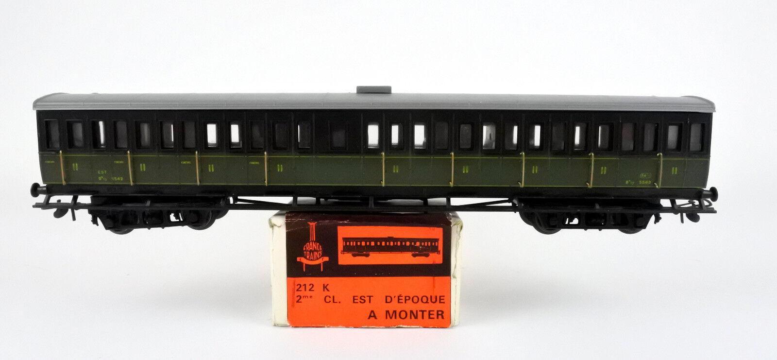 FRANCE TRAINS HO SCALE 212 K FRANCH RAILWAY EST 2ND PASSENGER CAR