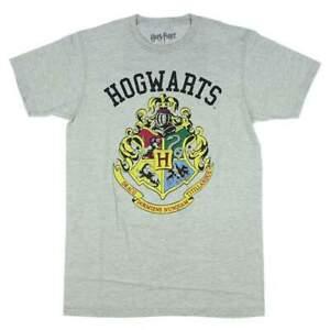 Officiel-Sous-Licence-Harry-Potter-Hogwarts-Crest-Sports-T-shirt-gris