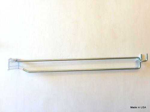 """11/"""" MEGA Flip Scan Metal Peg Hooks W//Label Holder 3//16-1//4 Pegboard 300 PACK"""