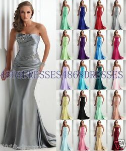 Formal-Long-Ball-Gown-Party-Prom-Bridesmaid-Evening-Dress-Size-6-8-10-12-14-16