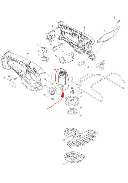 Buy Makita Motor 14 4v For Grass Shears Bum166 Original 629941 7