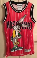 Moschino Jeremy Scott Bugs Bunny Tank Top Jersey Mini Dress Looney Tunes MEDIUM