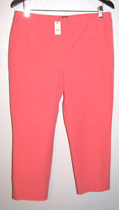Talbots-Petites-Women-039-s-Stretch-Cotton-Peach-Chatham-Crop-Pants-Size-12P-NWT