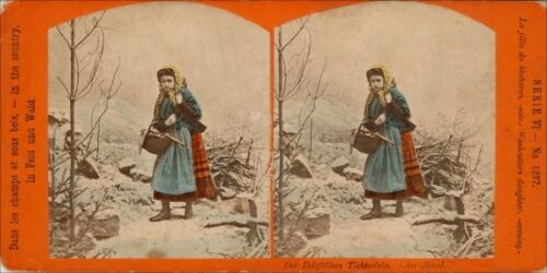 18 Stereoviews Genre Motive 1890, hand tinted Lot 5