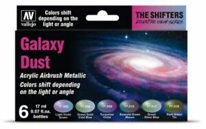 Vallejo-Shifters-Lot-Galaxy-Dust-6-77-092-Flip-Flop-Couleurs-Flop-Effet